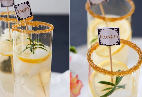 Custom wedding signature cocktail stirs