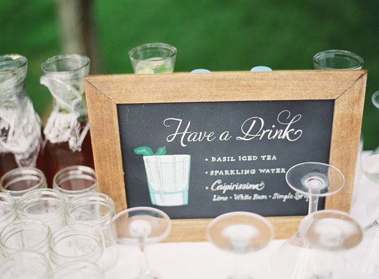 Have a Drink chalkboard wedding sign