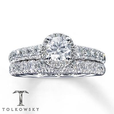 kay jewelers diamond bridal set 1 3 8 ct tw round cut 14k white gold bridal - Kay Jewelers Wedding Rings Sets