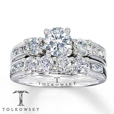 Kay Jewelers Diamond Bridal Set 1 7 8 Ct Tw Round Cut 14k White Gold