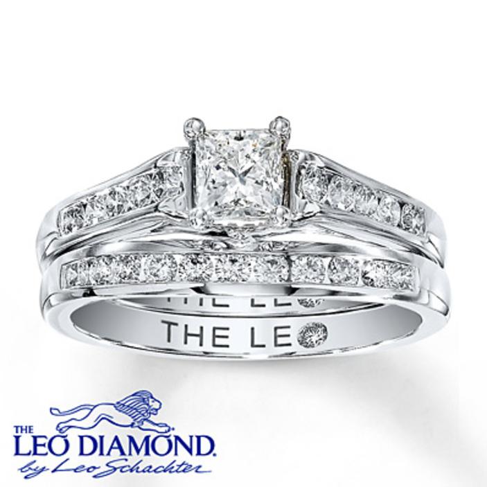 Kay Jewelers Diamond Bridal Set 2 Ct Tw Round Cut 14k White Gold Engagement  Rings 2