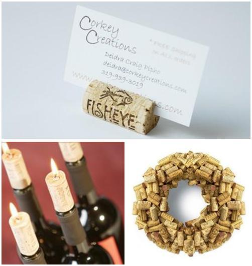 Wine corks are perfect as escort place card holders, or make a cute wine wreath