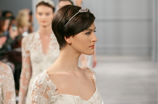 Wedding hair makeup trends for 2014 Monique Lhuillier 7