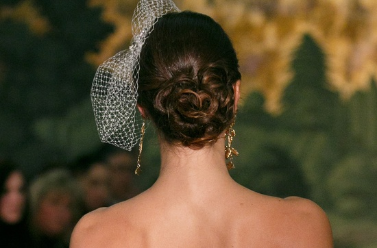 Twisted wedding updo at Anne Barge