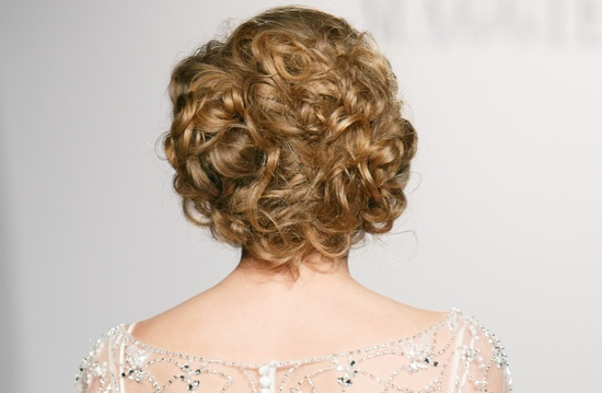 Curly wedding updo Maggie Sottero fall 2013