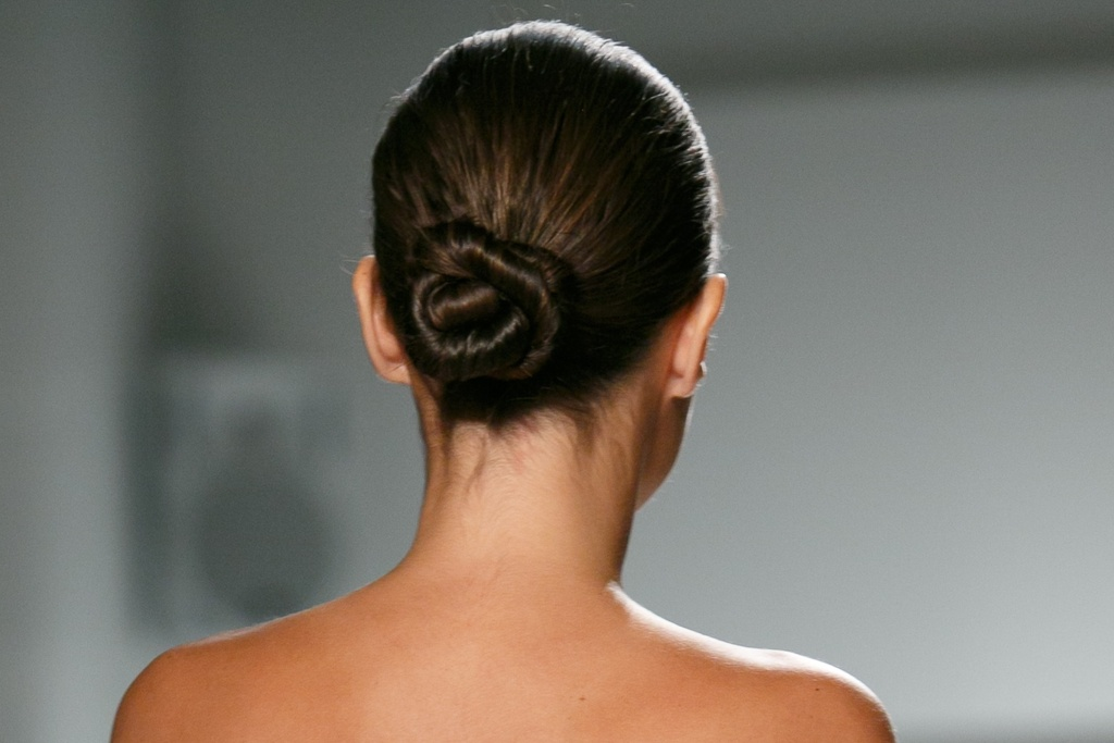 Wedding makeup inspiration Kenneth Pool Spring 2014 twisted bun