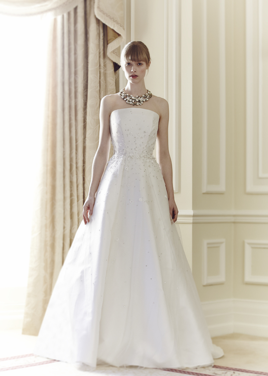 Jenny Packham Bridal Collection Spring Summer 2014 Wedding Dress Minnie with necklace