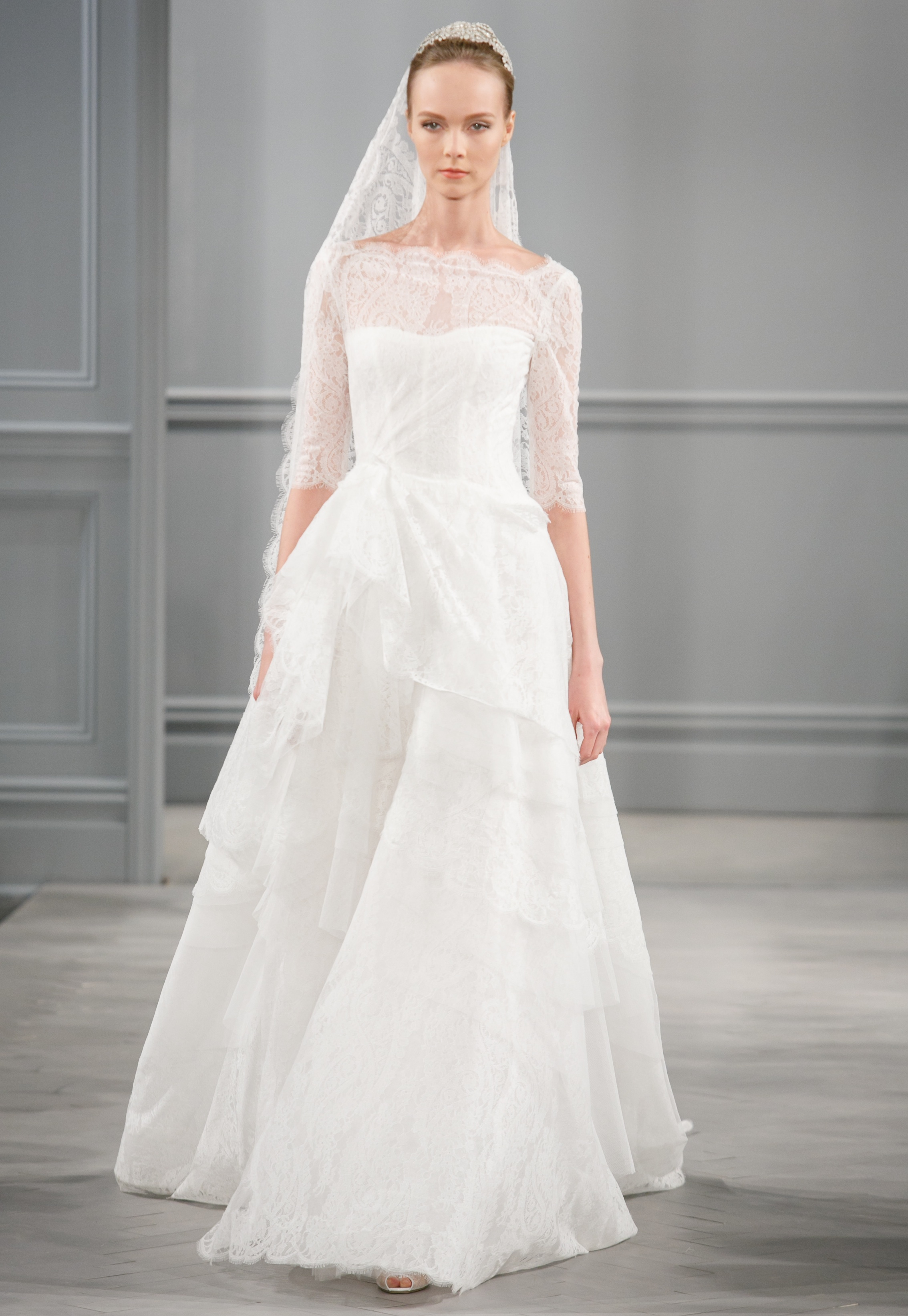 Spring 2014 wedding dress monique lhuillier bridal monaco for Monique lhuillier wedding dress