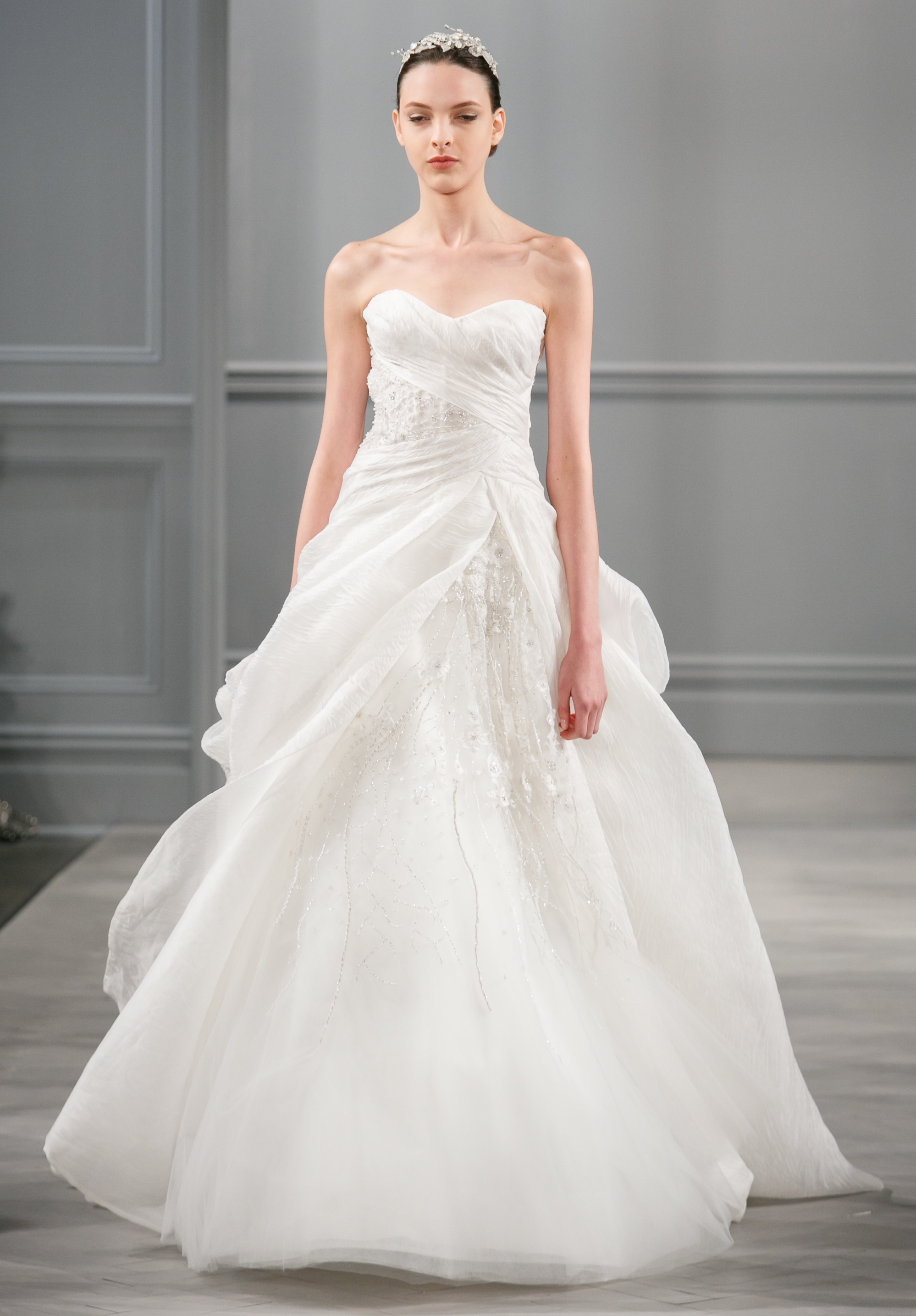 Spring 2014 wedding dress monique lhuillier bridal charade for Monique lhuillier wedding dress