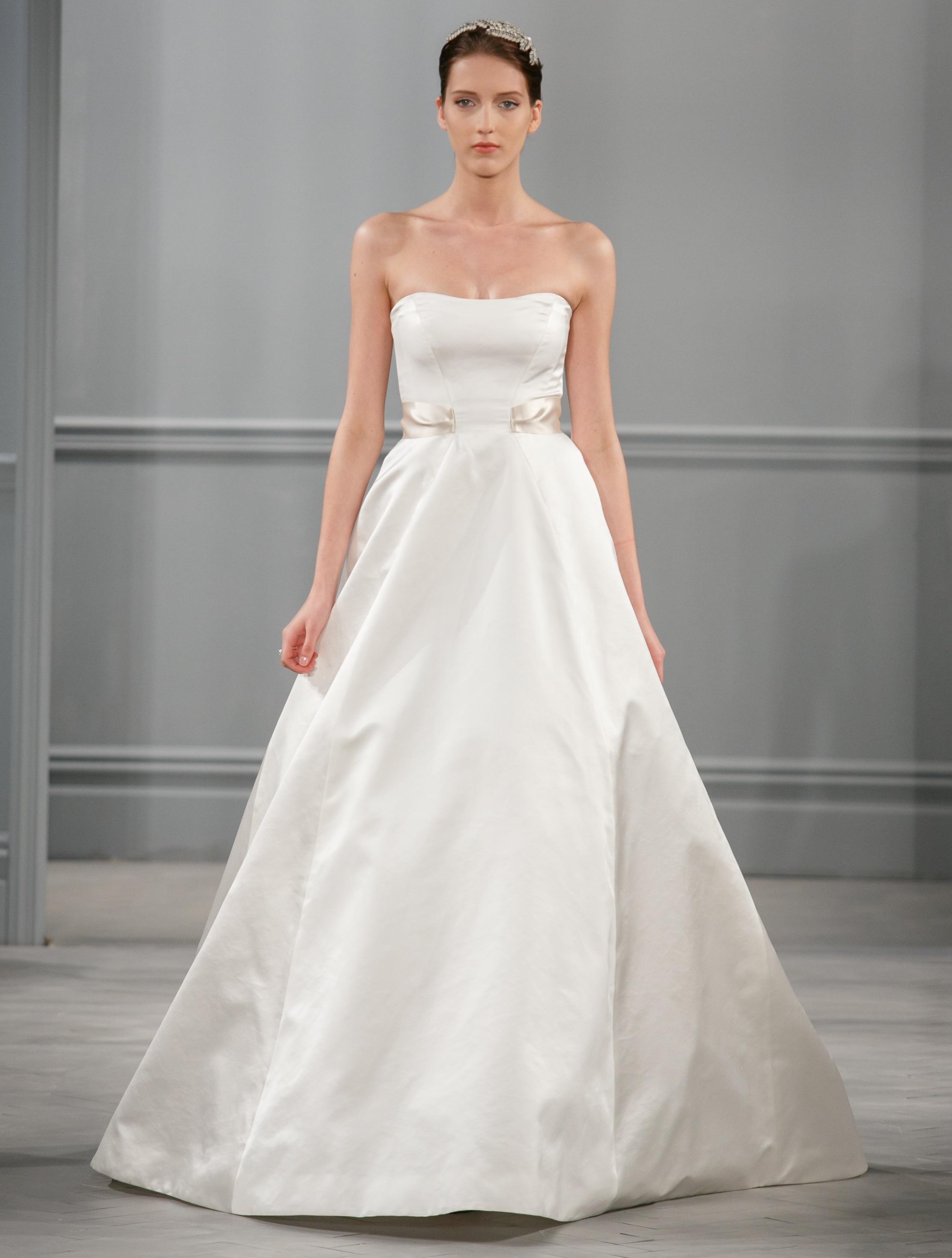 Spring 2014 wedding dress monique lhuillier bridal satine for Buy monique lhuillier wedding dress