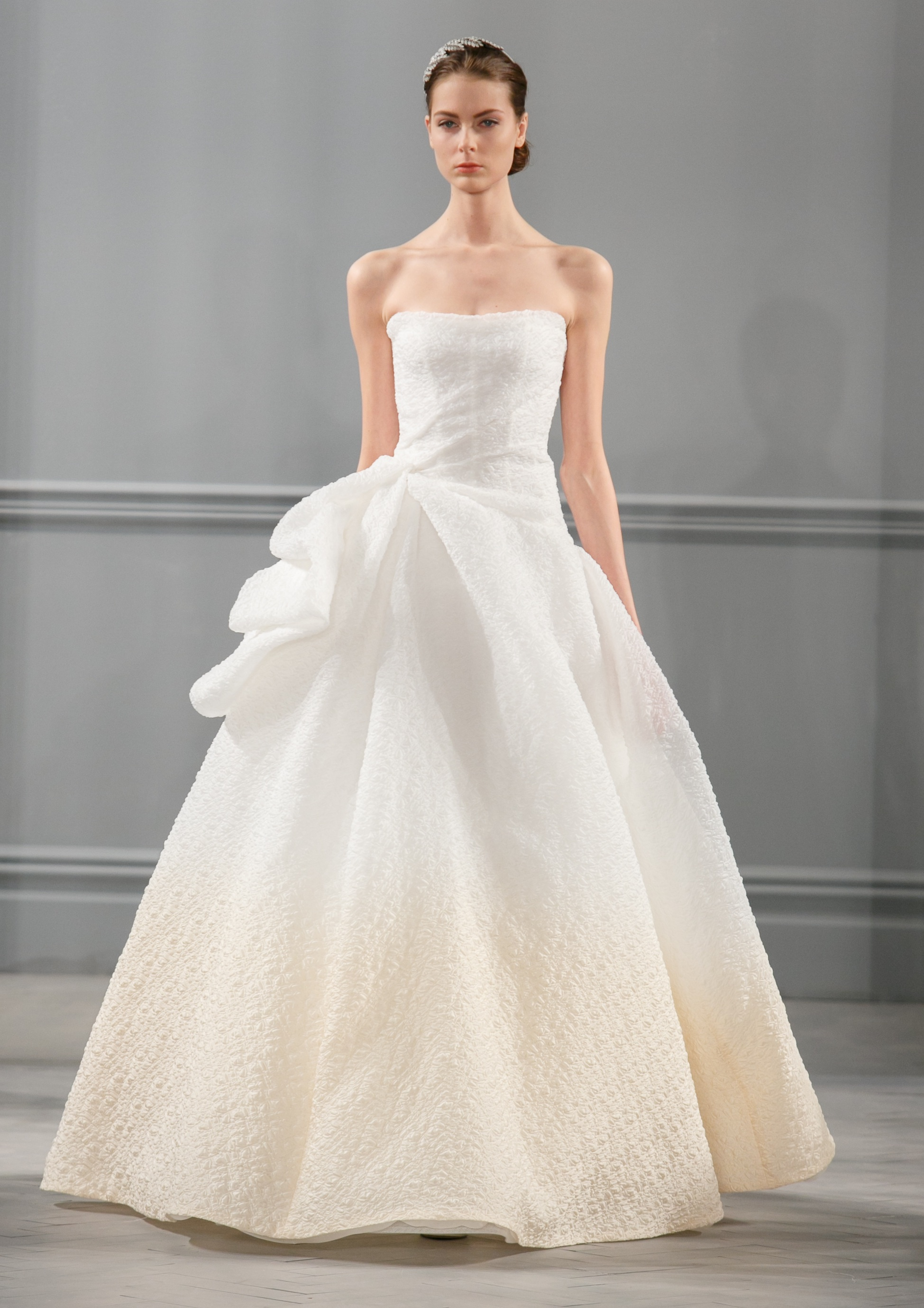 Spring 2014 wedding dress monique lhuillier bridal paris for Monique lhuillier wedding dress