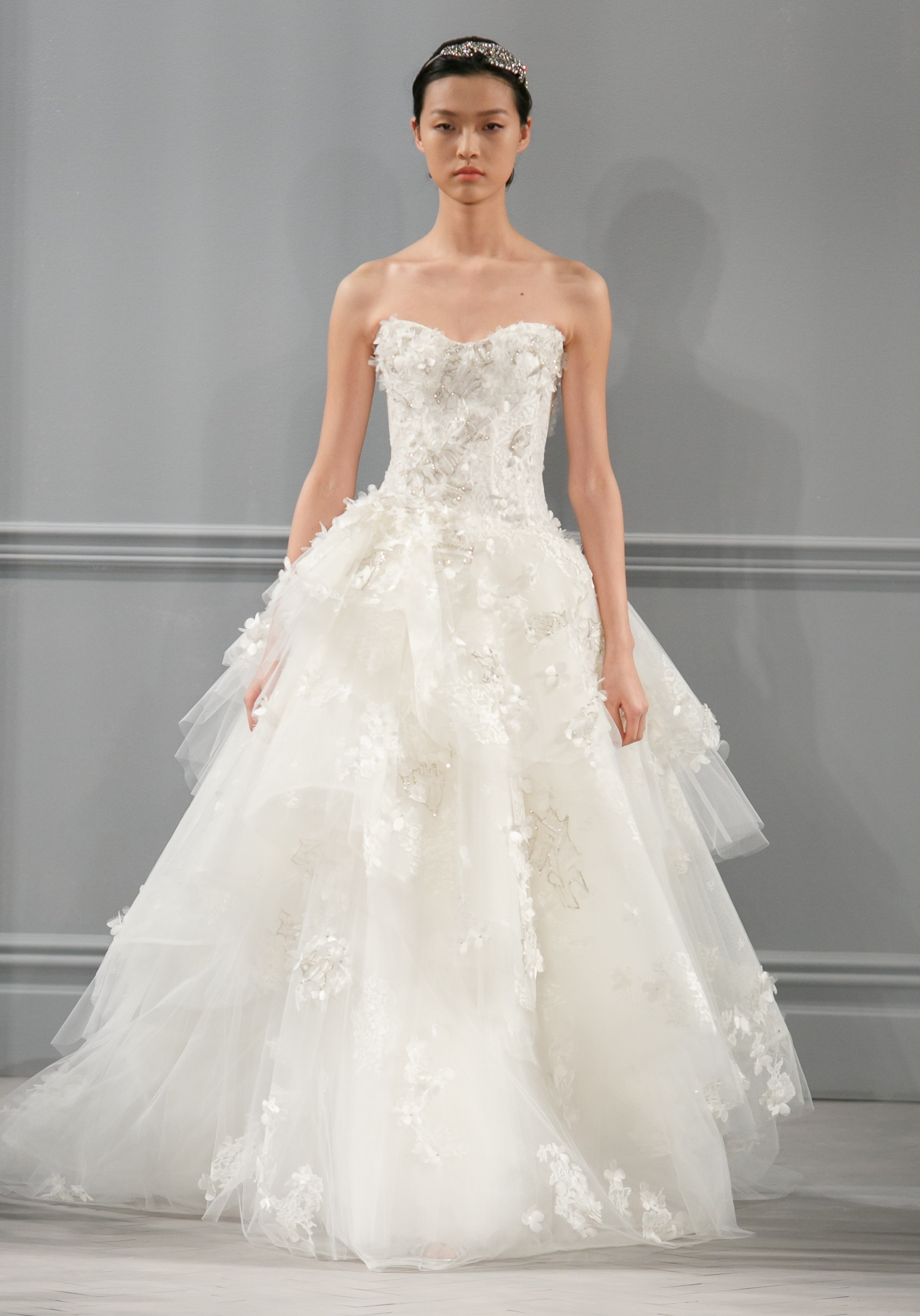 Spring 2014 wedding dress monique lhuillier bridal bijou for Monique lhuillier wedding dress