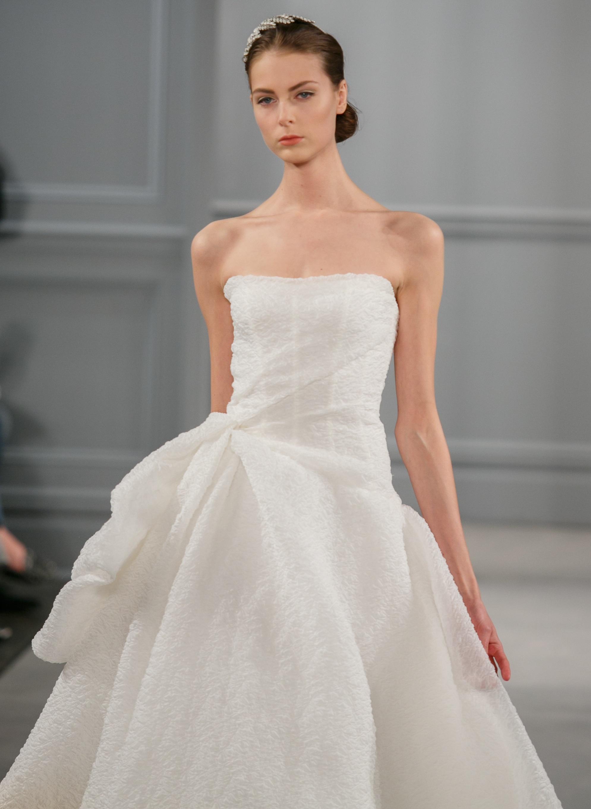 Spring 2014 wedding dress monique lhuillier bridal paris for Wedding dress monique lhuillier