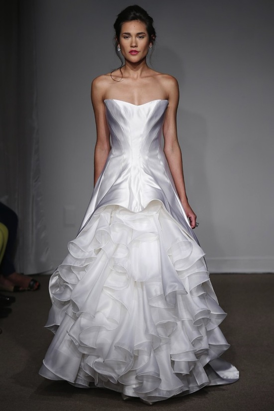 photo of Traditional with a Twist: Spring 2014 Anna Maier Wedding Gowns