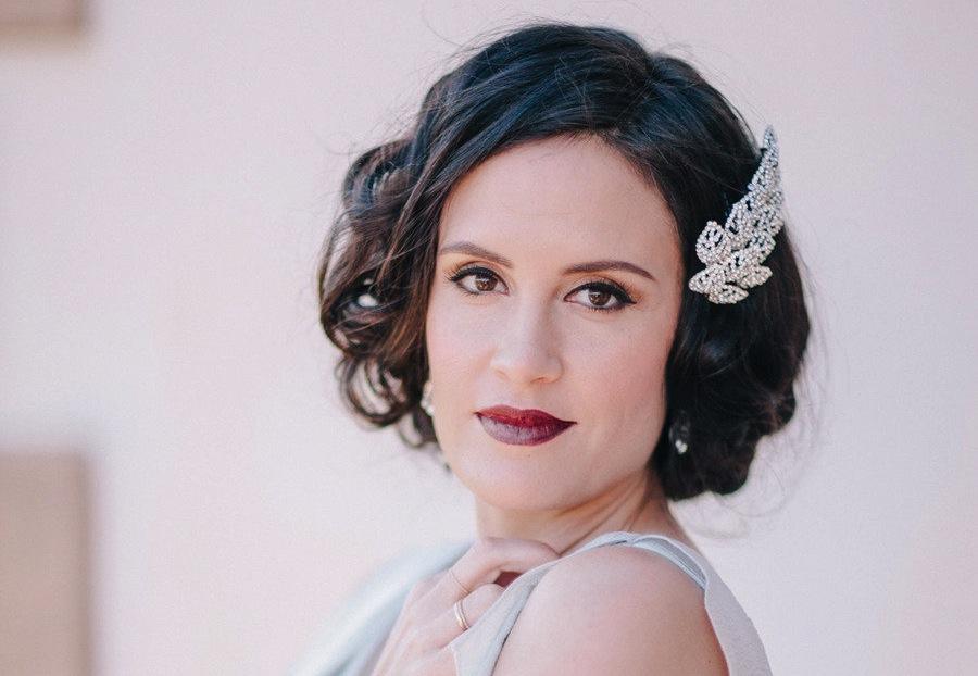 Glam Bridal Makeup : vintage glam wedding makeup OneWed.com