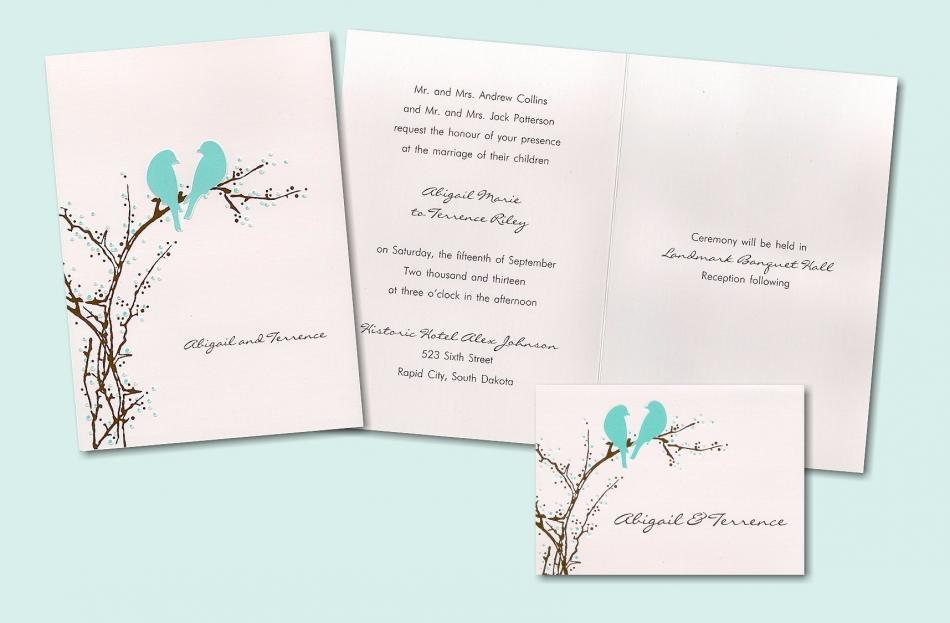 Bird Wedding Invitation: Serene Nature-inspired Wedding Invitations, With Bird