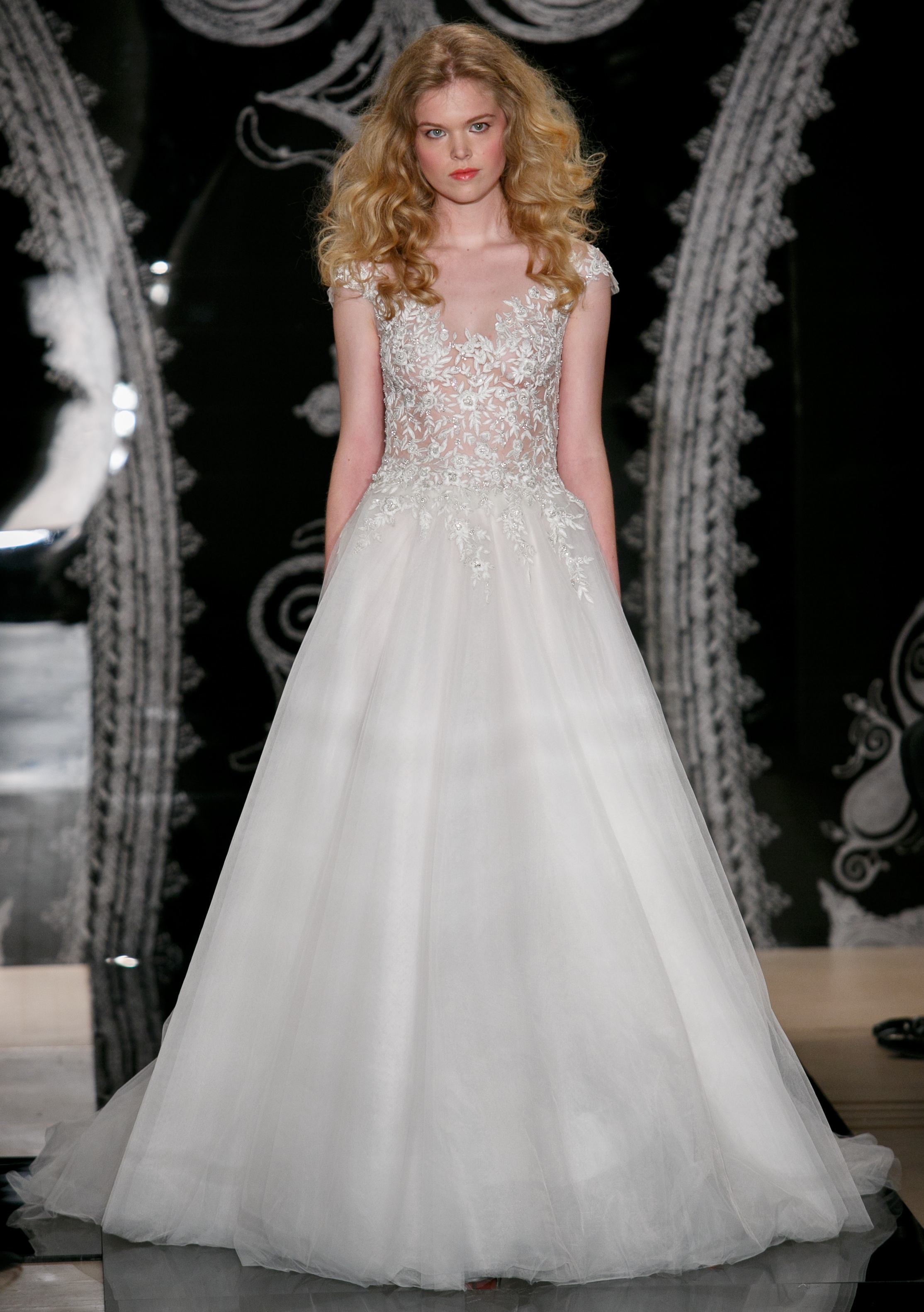 Reem acra wedding dress spring 2014 bridal olivia for Top 10 most beautiful wedding dresses