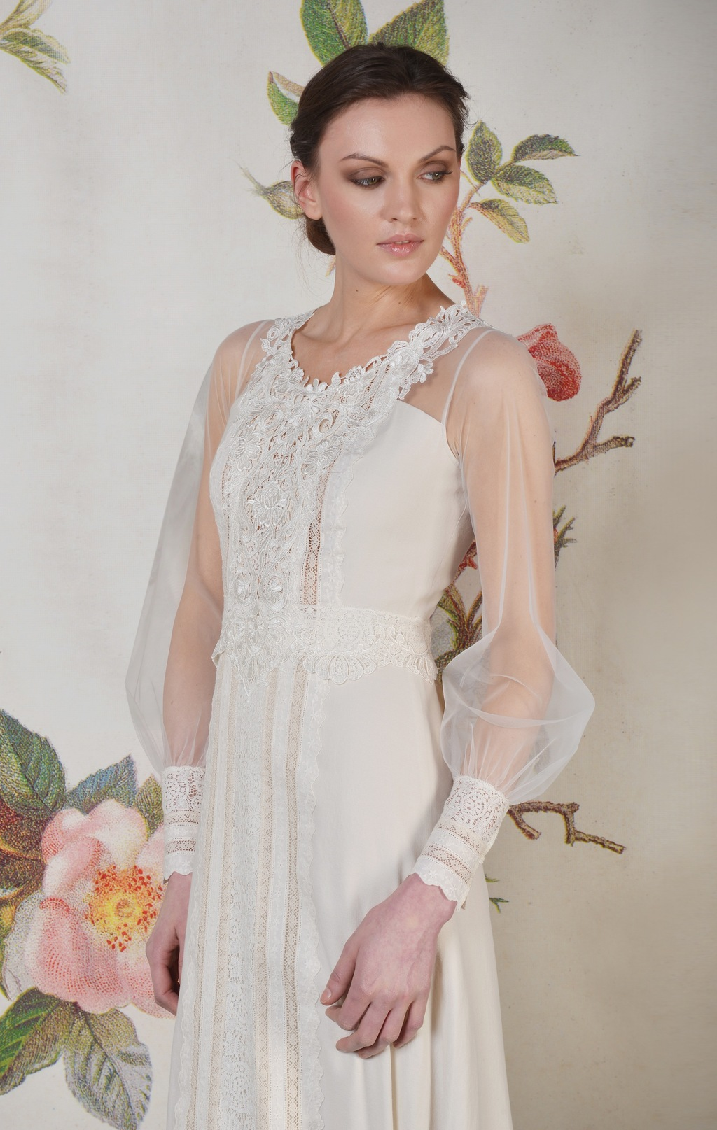 Claire Pettibone Spring Summer 2014 Wedding Dress Delaney f 01