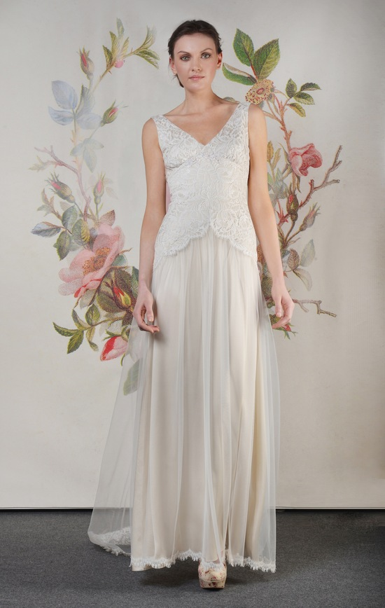 Claire Pettibone Spring Summer 2014 Wedding Dress Florentine f 01