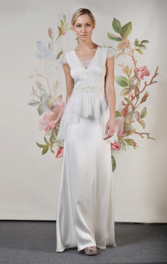 Claire Pettibone Spring Summer 2014 Wedding Dress Gladys f 01
