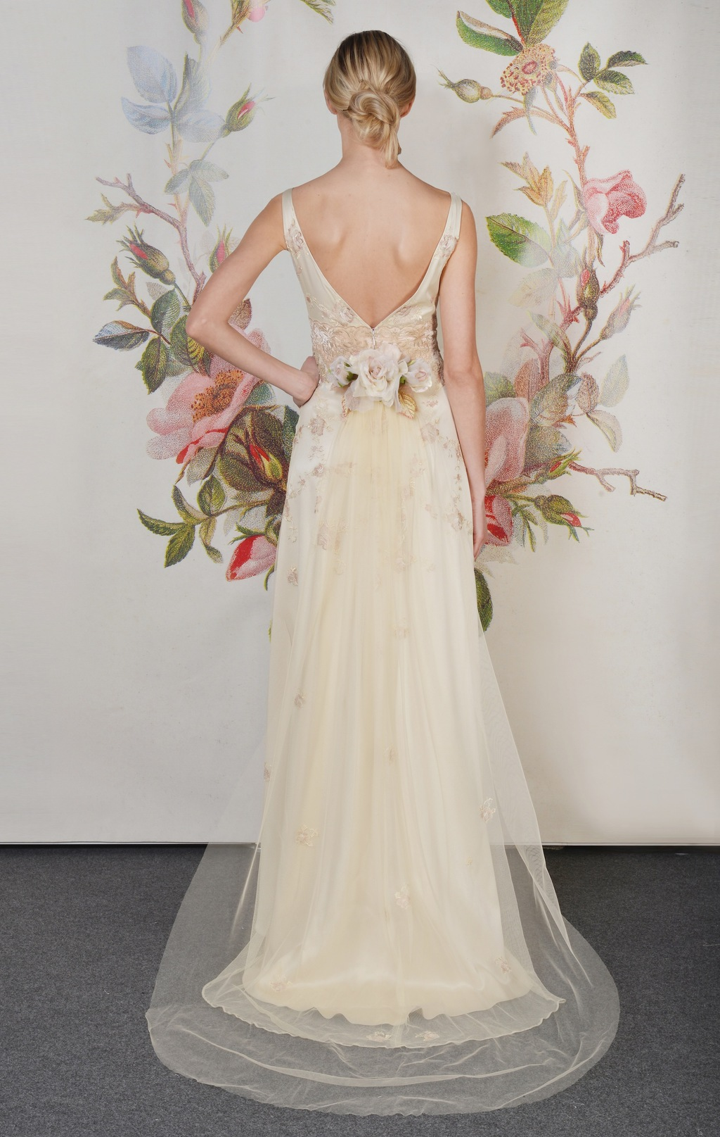 Claire Pettibone Spring Summer 2014 Wedding Dress Primrose f 01