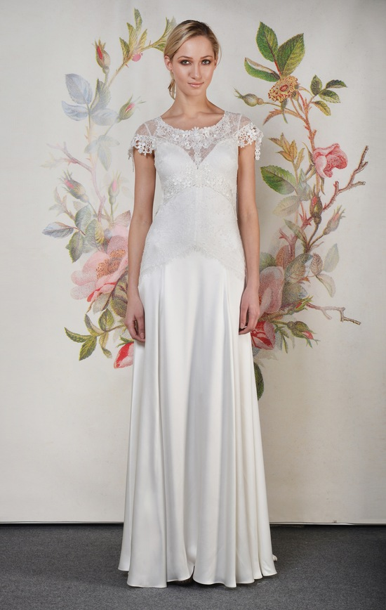 Claire Pettibone Spring Summer 2014 Wedding Dress Wren f 01