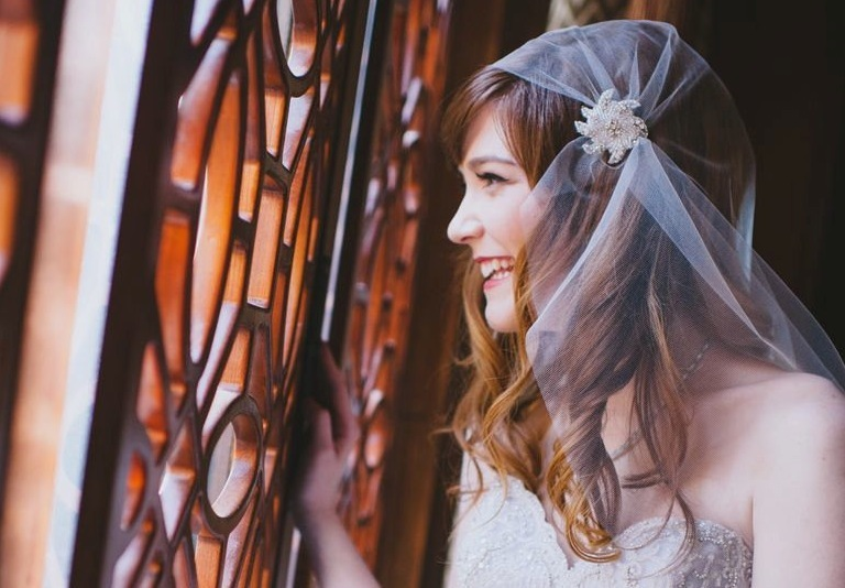tulle juliet cap vintage wedding accessories