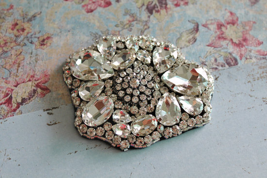 Art deco wedding brooch accessory