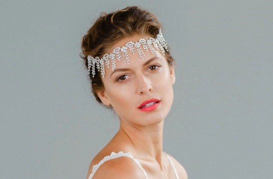 Crystal art deco bridal headpiece