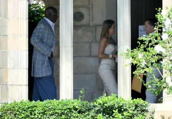 Michael Jordan Wedding bride and groom