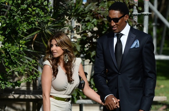 Air Jordan wedding guests Scottie Pippen and Larsa