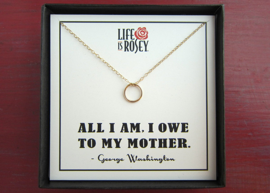 Unique mothers day gift ring pendant necklace