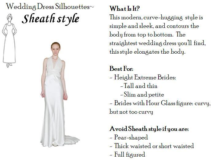 Wedding Gown For Petite Bride: Sheath Wedding Dress- Perfect For Tall And Thin, Or Petite