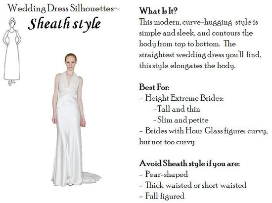 Sheath wedding dress- perfect for tall and thin, or petite and slim, brides