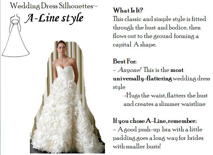 line wedding dresses- the most universally-flattering dress style