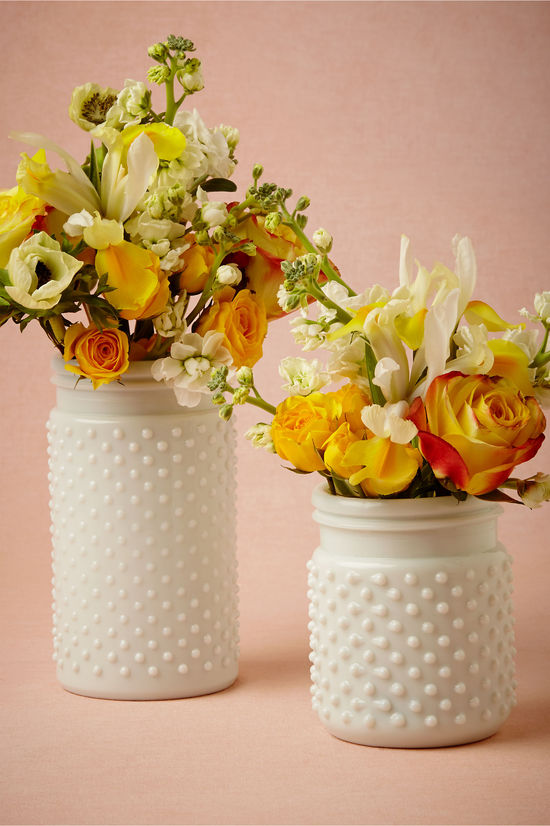 photo of Milk Glass Hobnail Jars