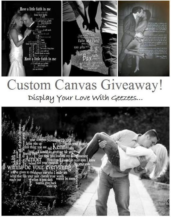 Don't miss out on this custom canvas giveaway from It's A Jaime Thing!