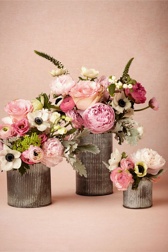 photo of Ridged Tin Vases