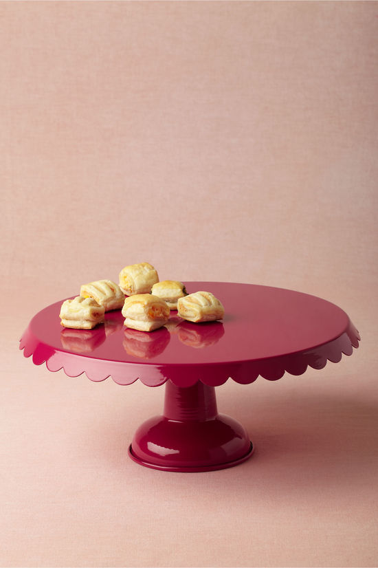 photo of Scalloped Cake Stand, Raspberry