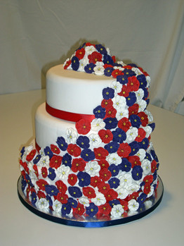 photo of A Salute to Patriotic Wedding Cakes