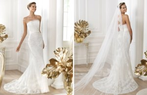 photo of 2014 Bridal Pre Collection Pronovias Costura Wedding Dress Leiva