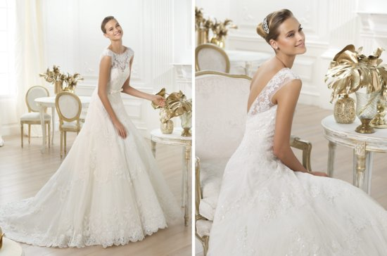 Pronovias wedding dress pre 2014 bridal costura Lenit