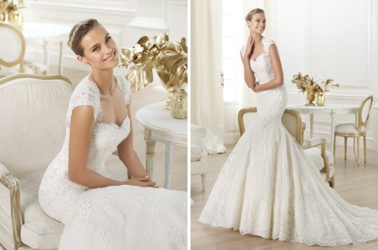 Pronovias wedding dress pre 2014 bridal costura Letha