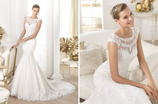 Pronovias wedding dress pre 2014 bridal costura Landel