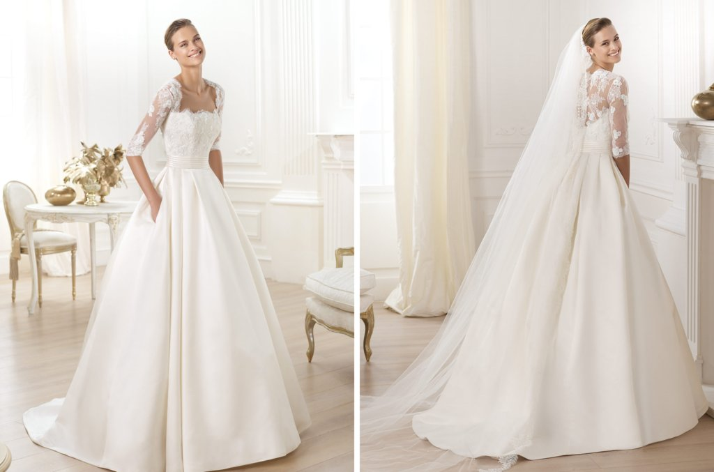 Pronovias wedding dress pre 2014 bridal costura Leslie