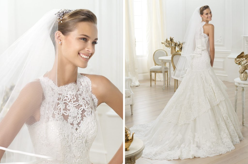 Pronovias wedding dress pre 2014 bridal costura Lenix