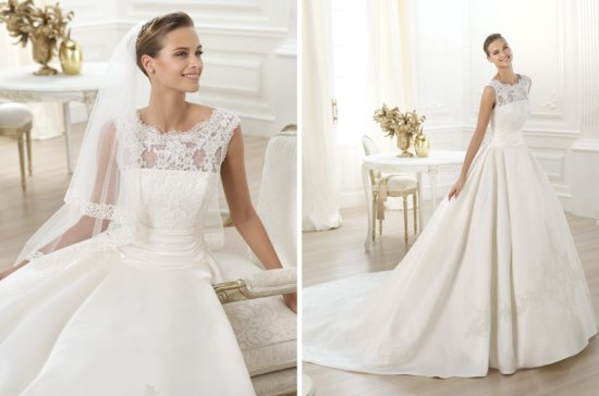 Pronovias wedding dress pre 2014 bridal costura Laudin