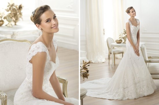 Pronovias wedding dress pre 2014 bridal costura Lencie