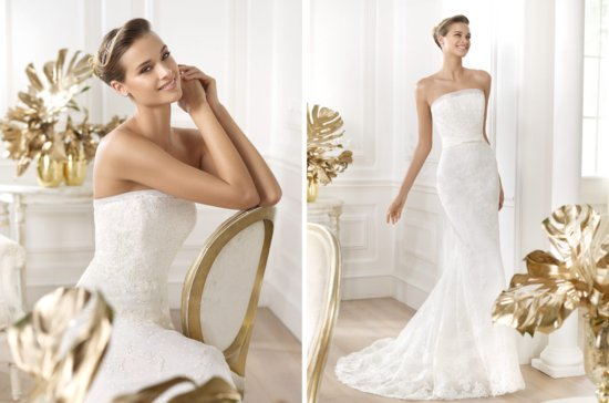 2014 Bridal Pre Collection Pronovias Costura Wedding Dress Leiva