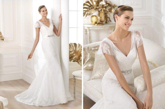 photo of Pronovias wedding dress pre 2014 bridal costura Lianela